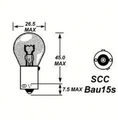 Amber Indicator Bulbs PK10 24V 21W